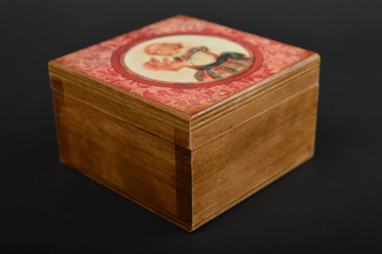 Handmade jewelry box jewelry gift boxes decoupage wooden jewelry box gift  ideas