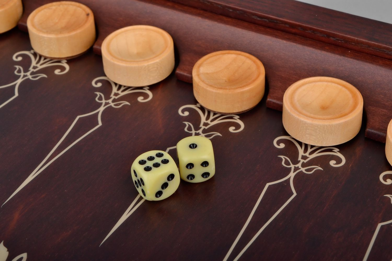 Wooden backgammon set photo 4