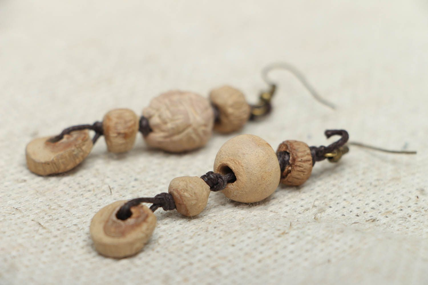 Long ceramic earrings photo 2