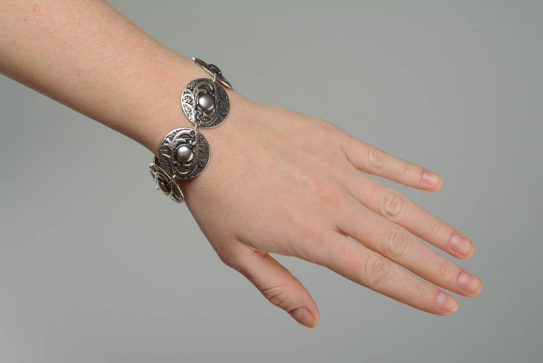 Metal bracelet in ethnic style photo 5
