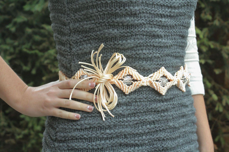 Belt made of silk threads photo 1