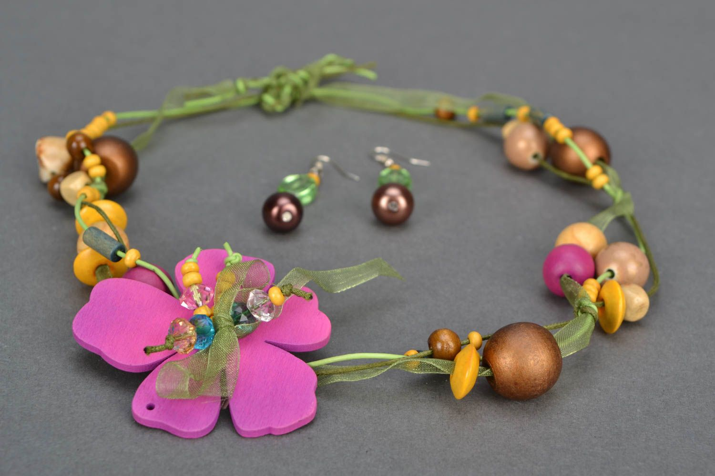 Homemade jewelry set Spring photo 3