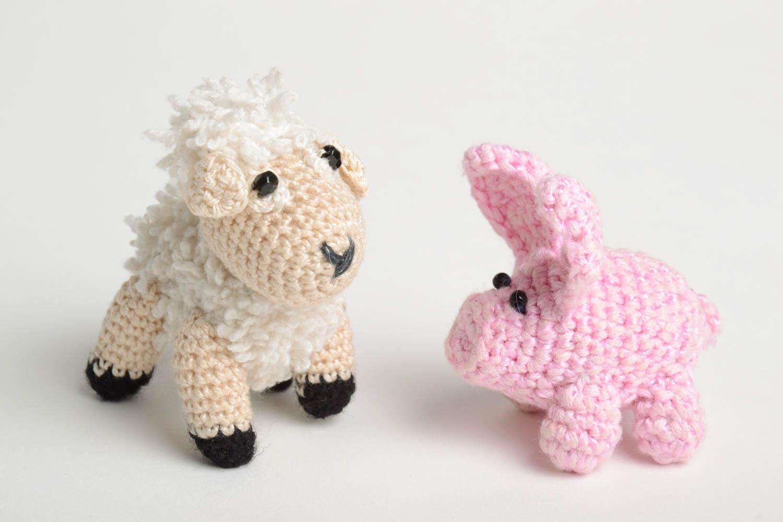 Вязание крючкомигрушка овечка 76