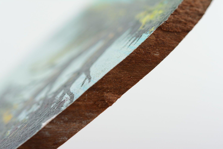 Wooden fridge magnet Lake photo 5