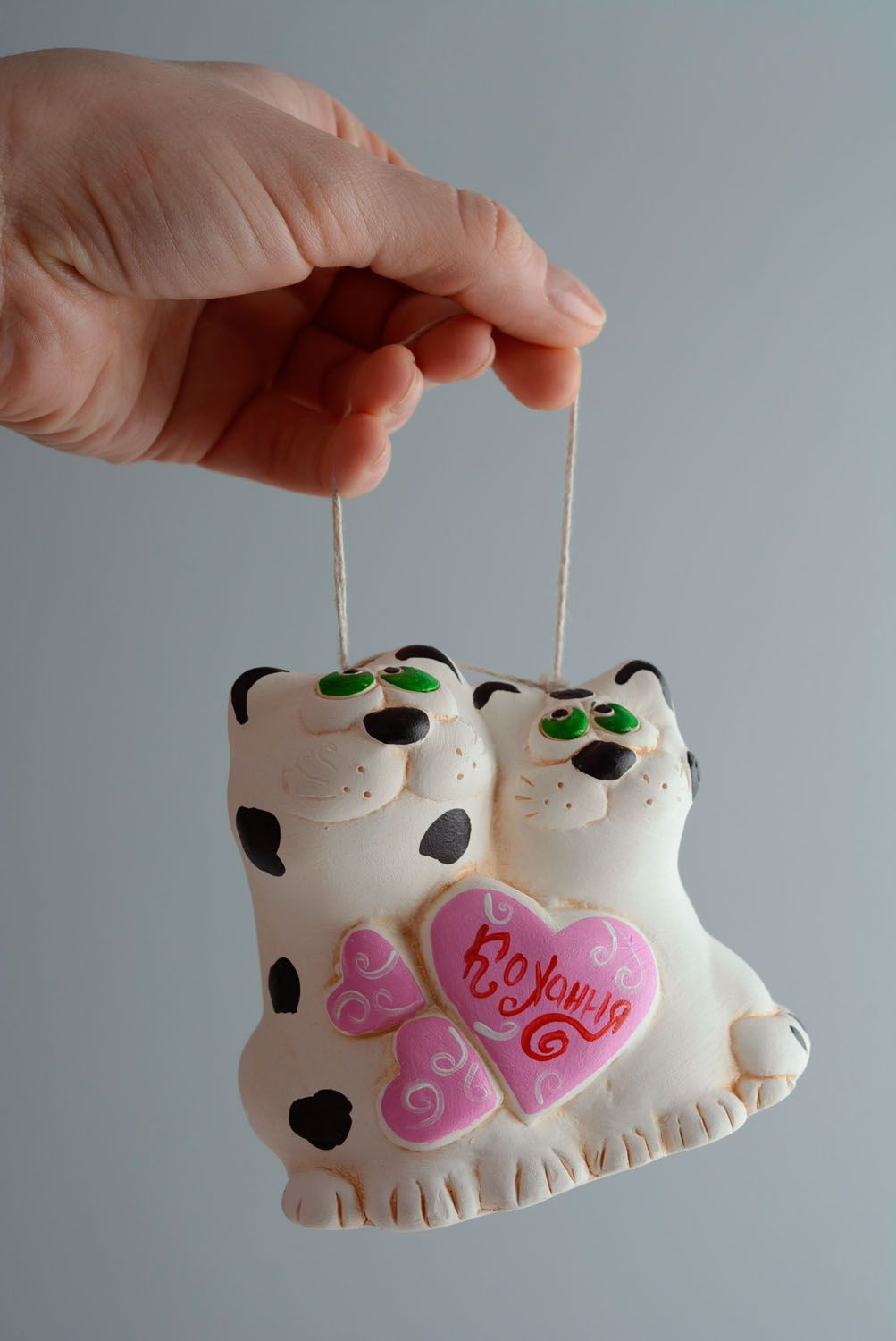 Homemade clay bell Cat's Wedding photo 4