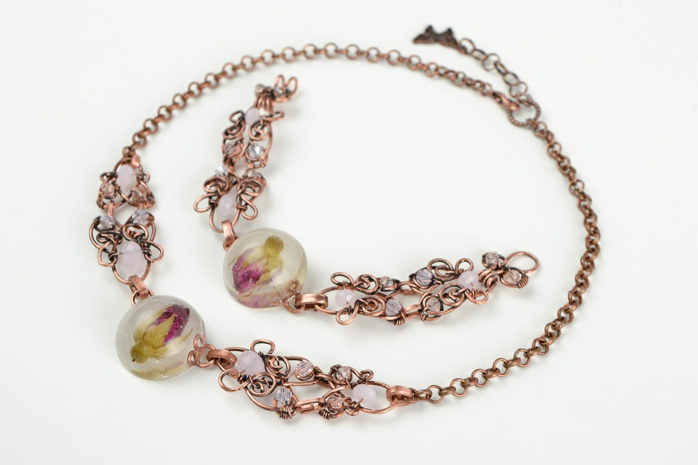 MADEHEART > Schmuck Set handmade Halskette Collier Armband Damen ...