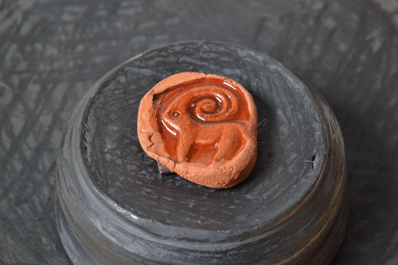 Ceramic fridge magnet Aries photo 1