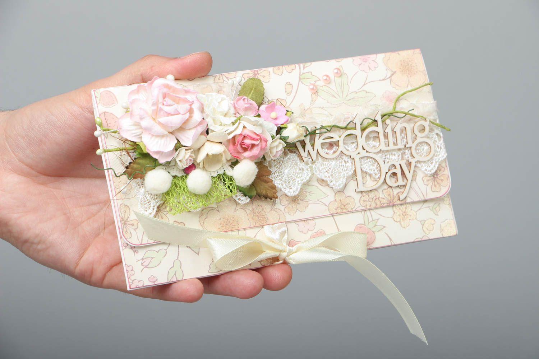 Homemade wedding greeting card photo 3