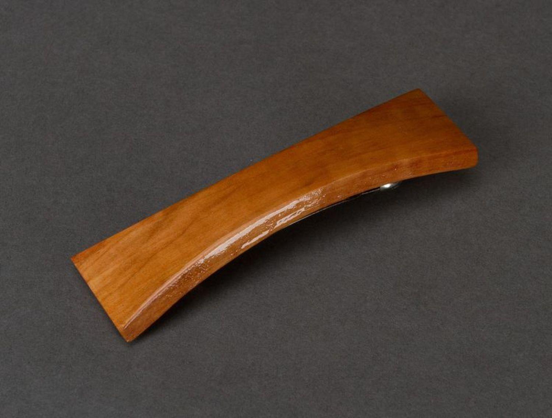 Wooden hair clip photo 1