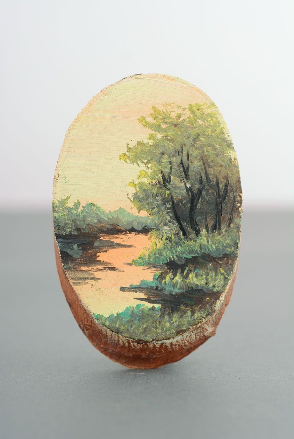 Wooden fridge magnet River photo 4