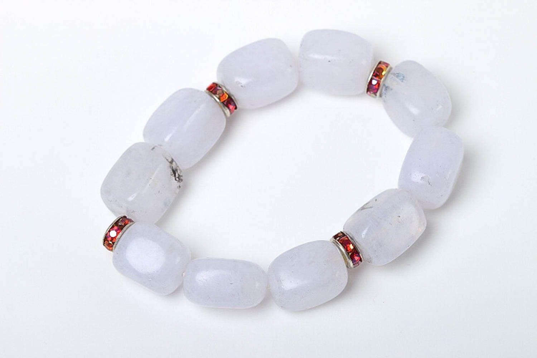 Quartz bracelet handmade woven bracelet fashion jewelry with natural stones photo 2