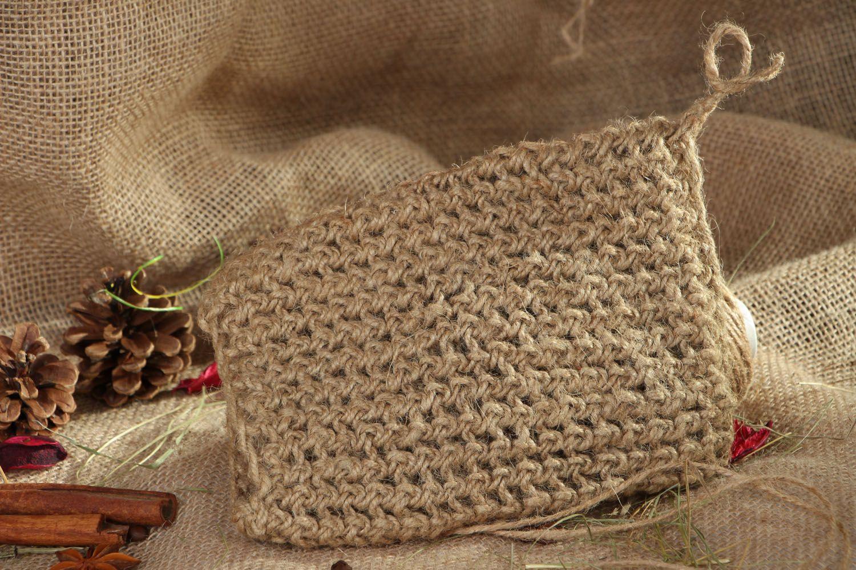Crocheted body scrubber photo 5