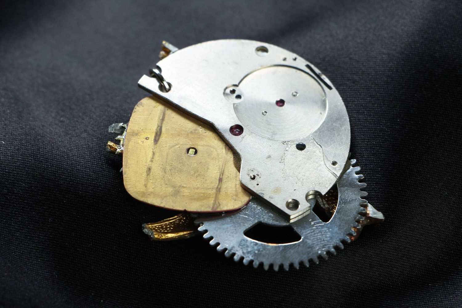 Abstract steampunk pendant photo 3