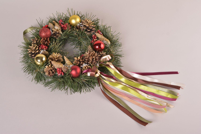 cristmas decor Bright handmade Christmas decoration Christmas wreath wall hanging small gifts - MADEheart.com