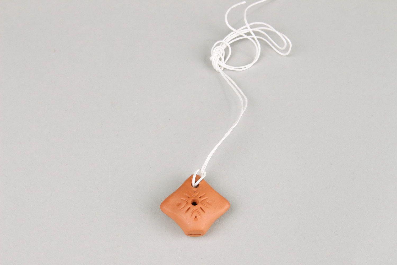 Ceramic tin whistle pendant, 2 sounds photo 4