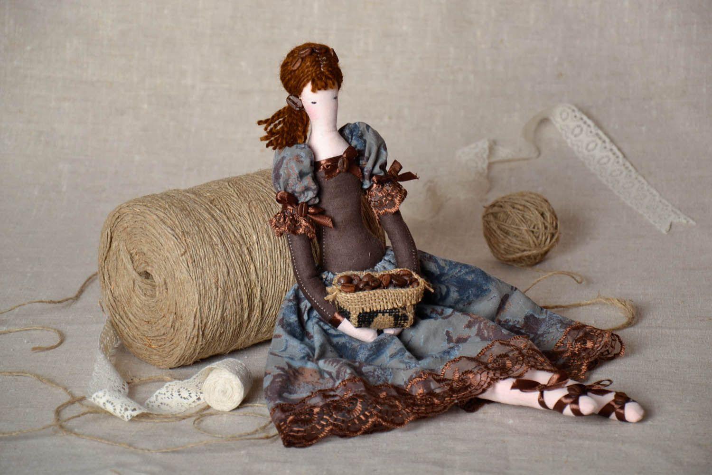 Decorative doll made of natural fabrics photo 1