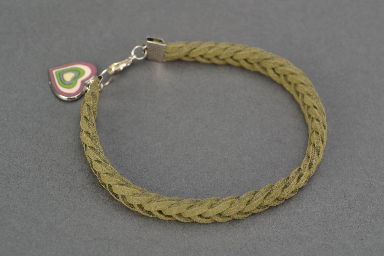 Woven suede bracelet for wrist photo 4