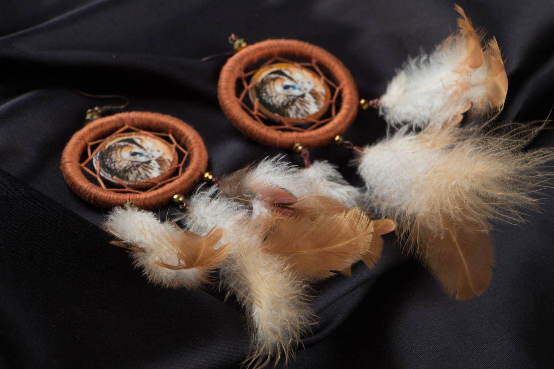 Earrings of unusual shape Dreamcatcher photo 2