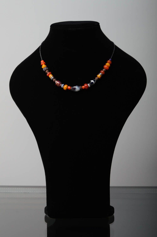 Handmade lampwork necklace Masha photo 2