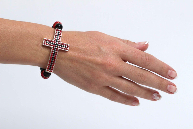Handmade beaded bracelet accessories with natural stones designer jewelry photo 5