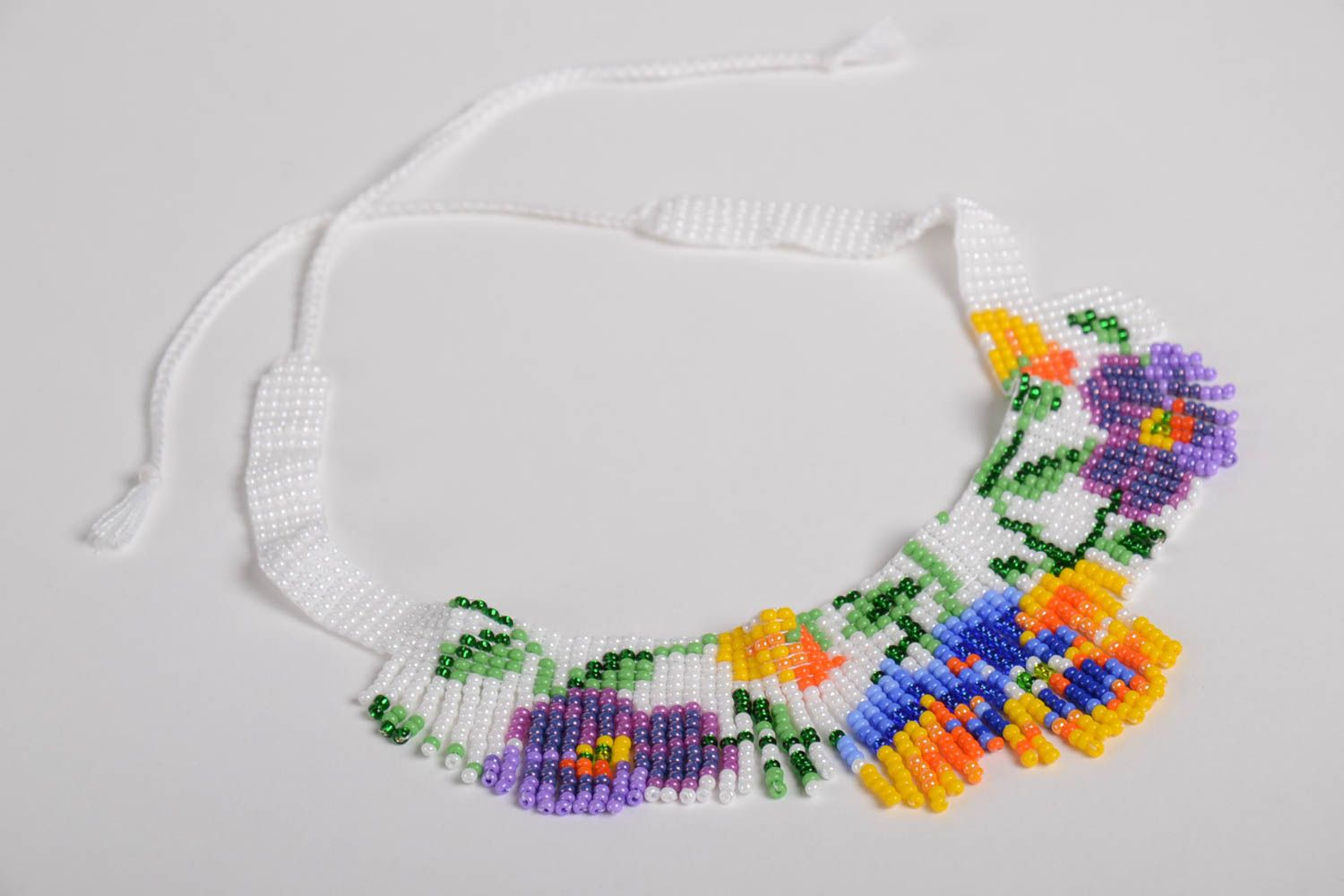 Handmade short beaded necklace accessory in ethnic style beautiful jewelry photo 4