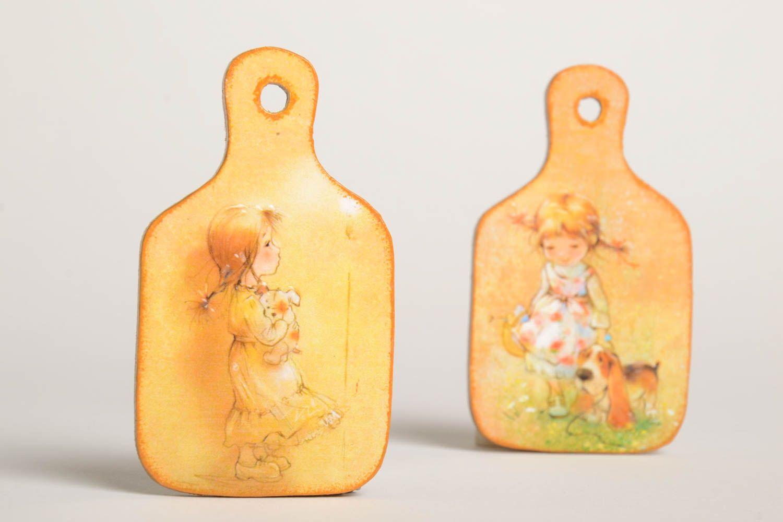 Beautiful souvenir magnets unusual handmade accessories decorative present photo 2