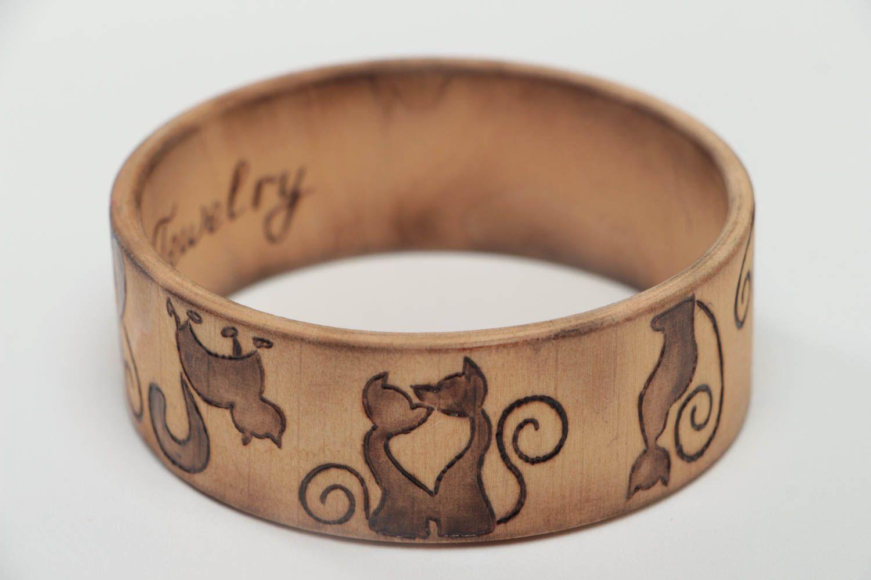 Stilvolles handmade Frauen Accessoire Schmuck Armband Mode Schmuck aus Holz foto 1