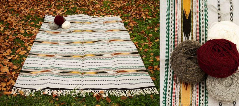 Homespun wool carpet photo 2