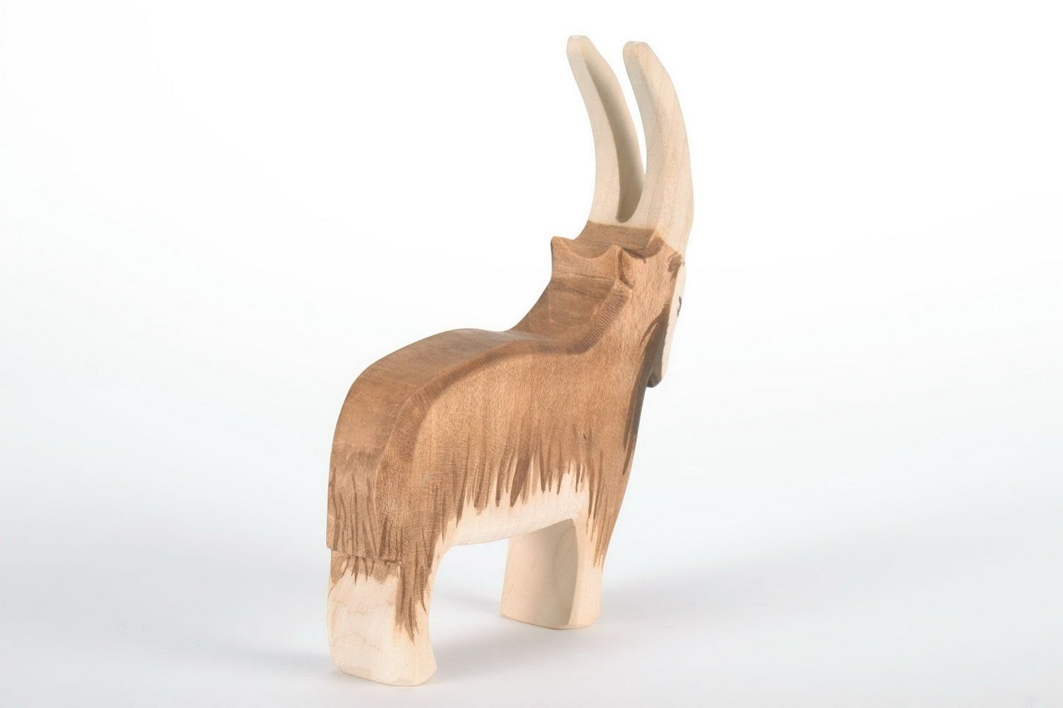 Wooden figurine Mountain goat photo 4