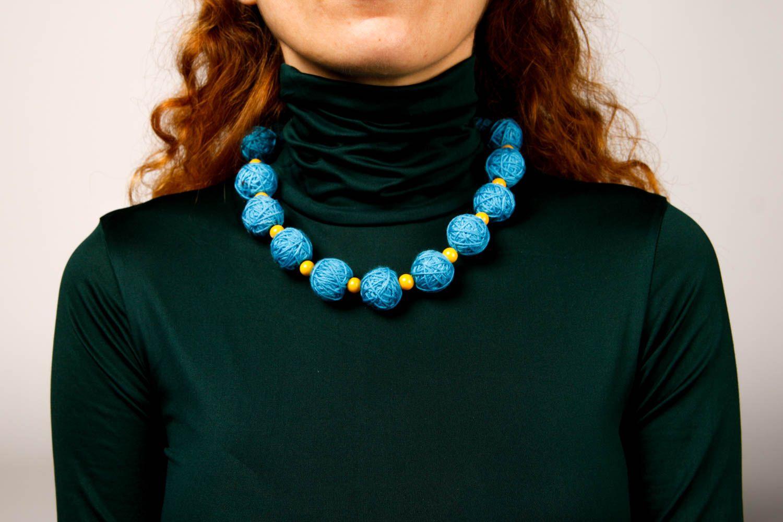 Handmade Stoff Halskette Designer Schmuck Frauen Accessoire Halskette für Frauen foto 1