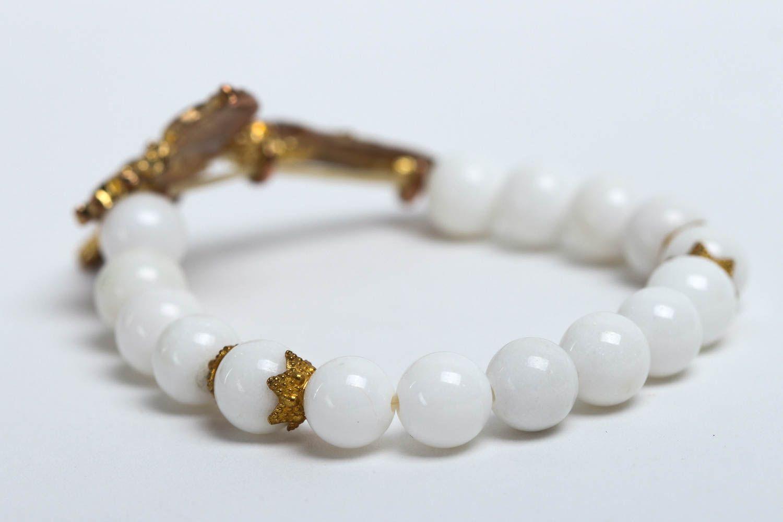 Handmade designer beaded bracelet unusual tender jewelry bracelet with charm photo 4
