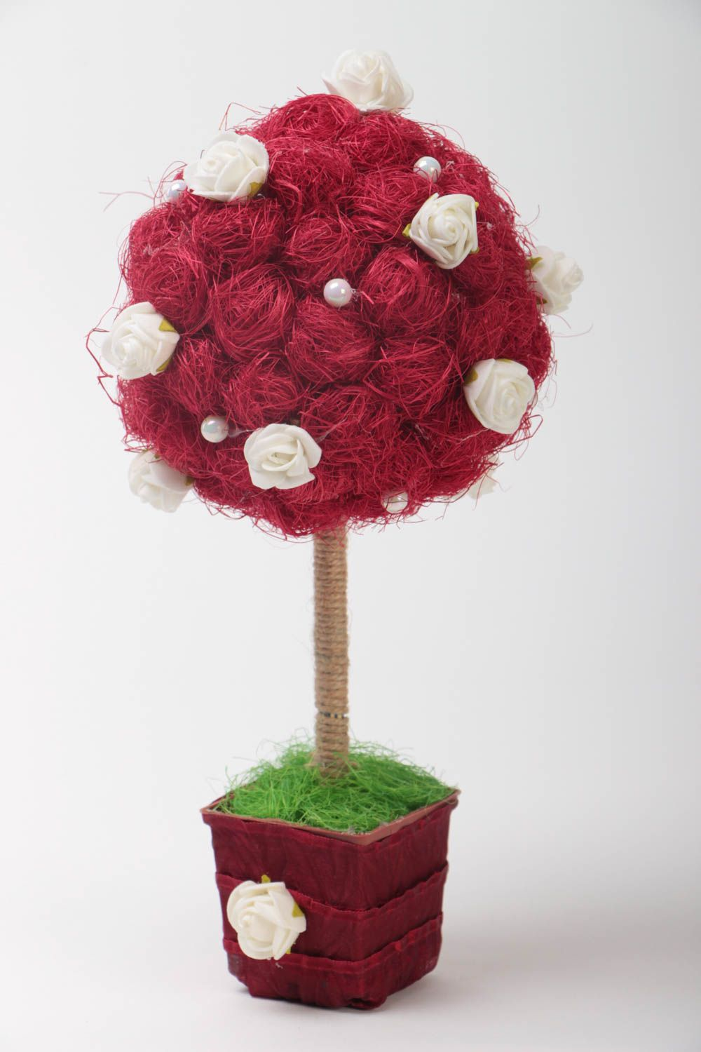 Unusual handcrafted topiary decorative tree of happiness home design gift ideas photo 2
