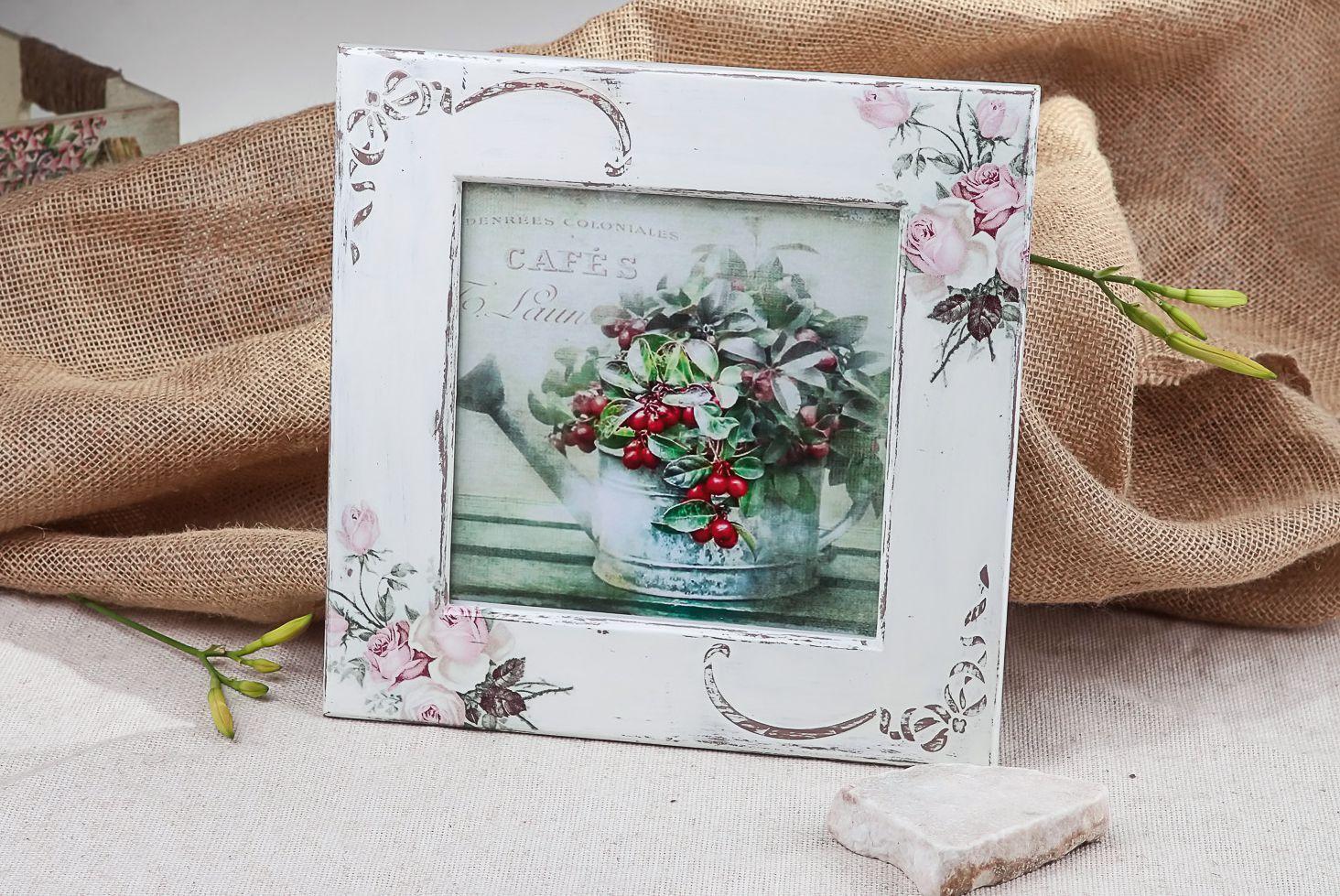 Marco para fotos Rosas delicadas, decoupage foto 4