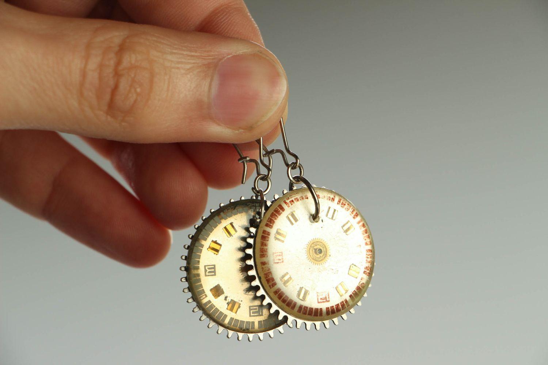 steampunk earrings Steampunk metal earrings - MADEheart.com