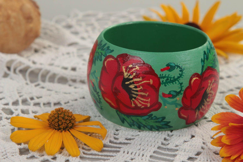 Painted wooden bracelet wrist stylish bracelet unusual accessory gift photo 3