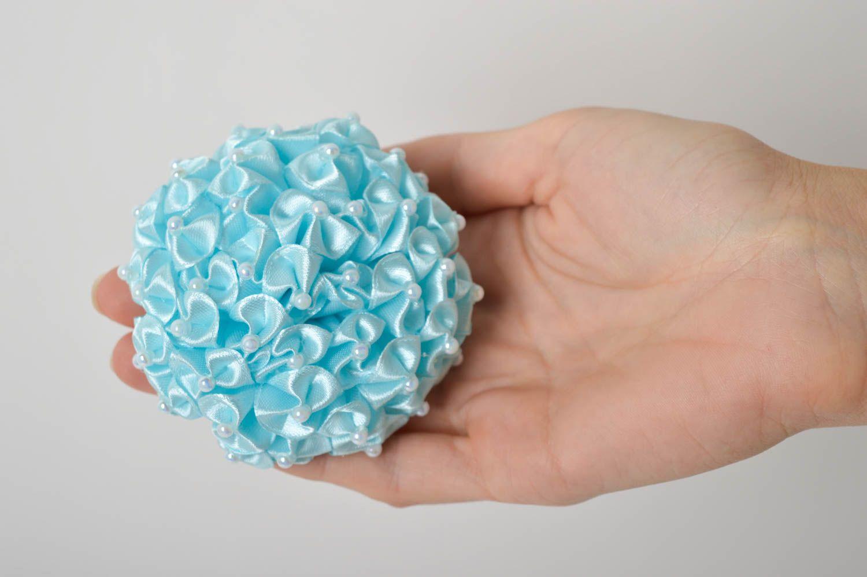 Handmade volume scrunchy stylish satin flower designer scrunchies for children photo 2