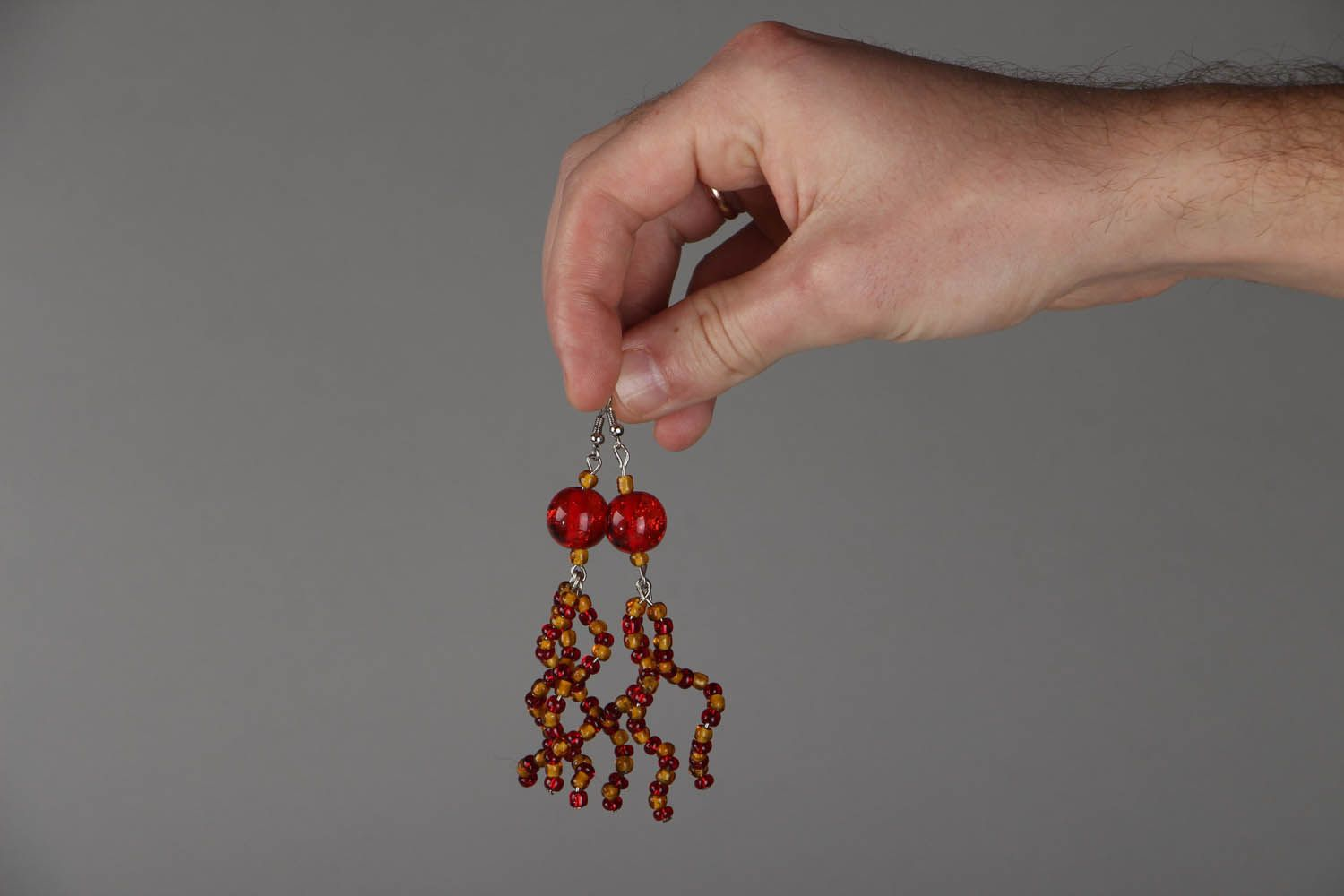 Long beaded earrings photo 4