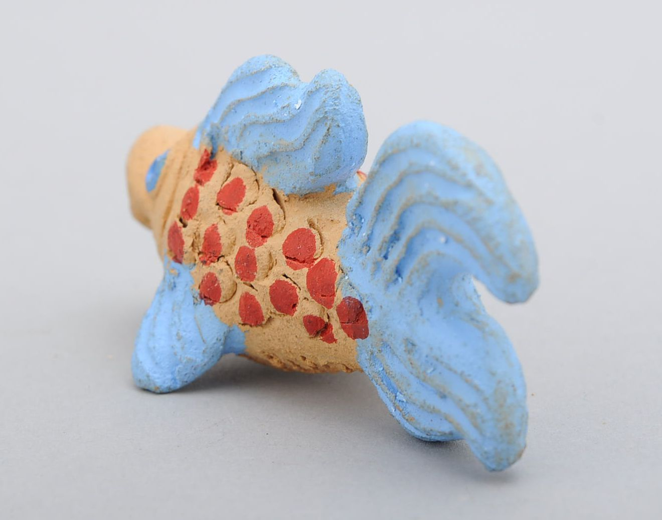 Clay penny whistle Fish photo 3