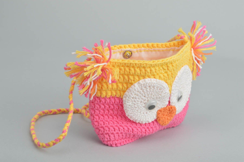 Детская сумочка вяжем крючком фото