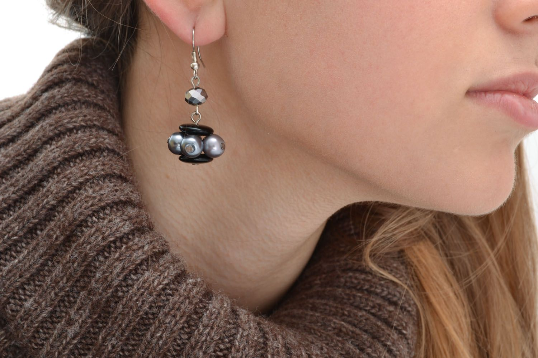 Unusual beaded earrings photo 5