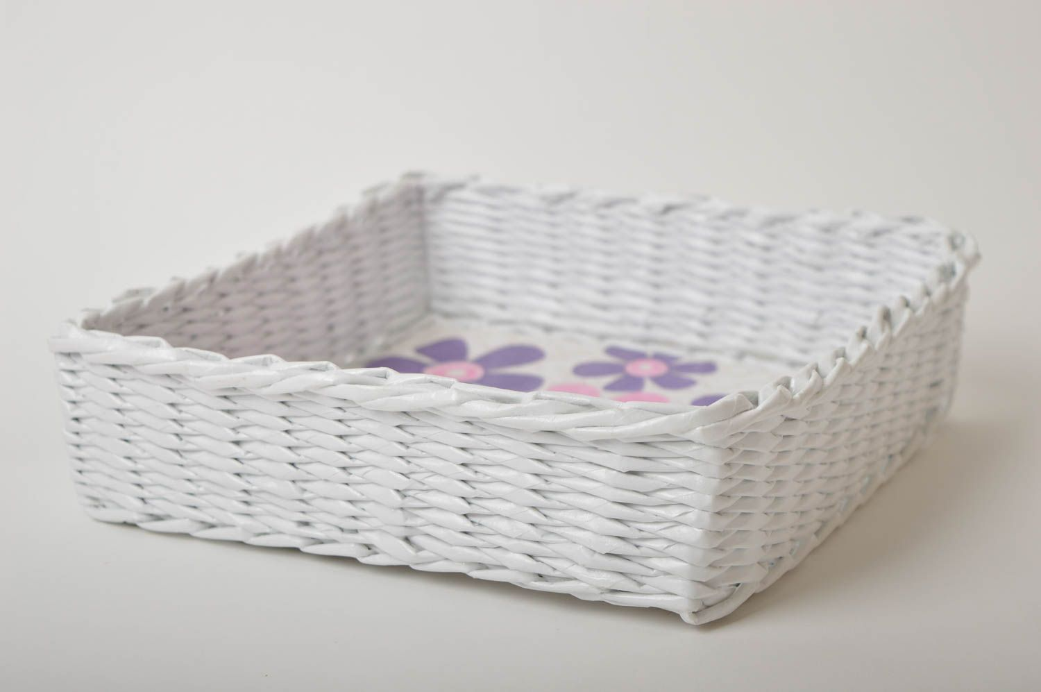 Handmade decorations woven basket paper basket gifts for women home decor photo 2