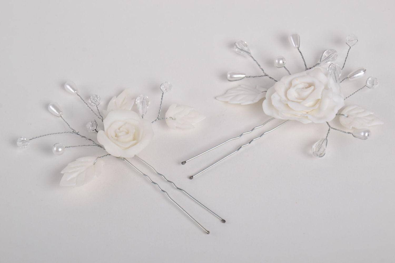 Madeheart Handmade Wedding Accessories 2 White Elegant Hair Pins