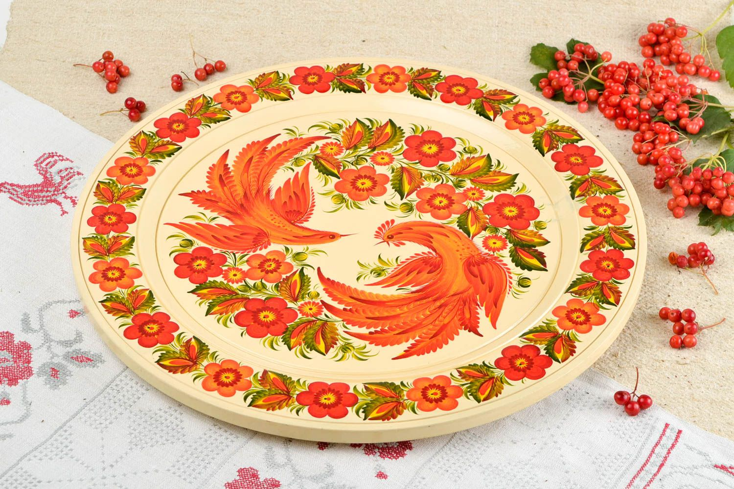 MADEHEART > Decorative wall panel handmade wooden plate wall plate ...