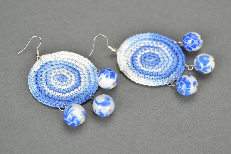 Homemade crochet earrings Eastern photo 4