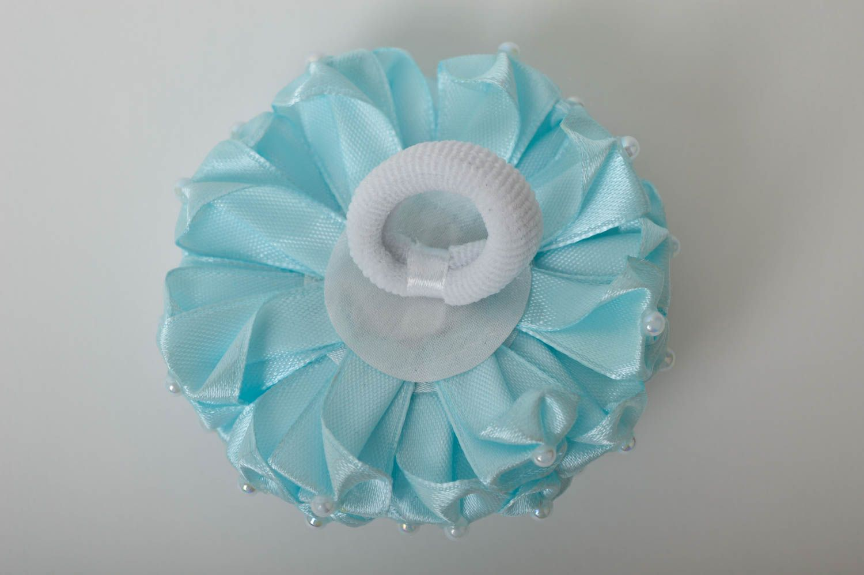 Handmade volume scrunchy stylish satin flower designer scrunchies for children photo 4