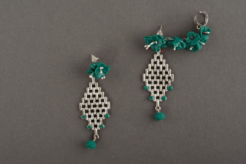Cuff earrings Emerald photo 2