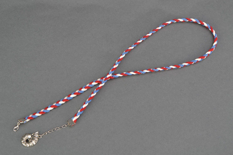 Suede wrist bracelet Seashell photo 4