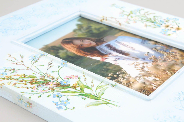 Wooden decoupage photoframe photo 5