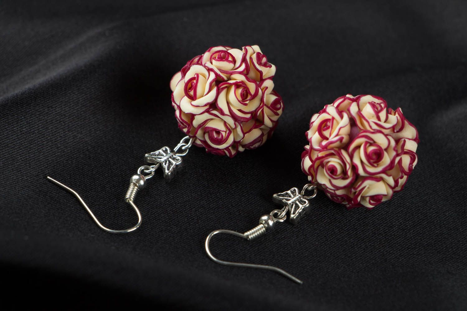 Earrings with rose charms  photo 3