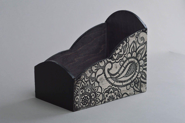 MADEHEART > Gewürze Kasten aus Holz in Decoupage Technik handmade ...